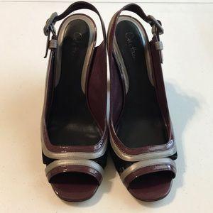 Cole Haan Nike Air peep toe heels